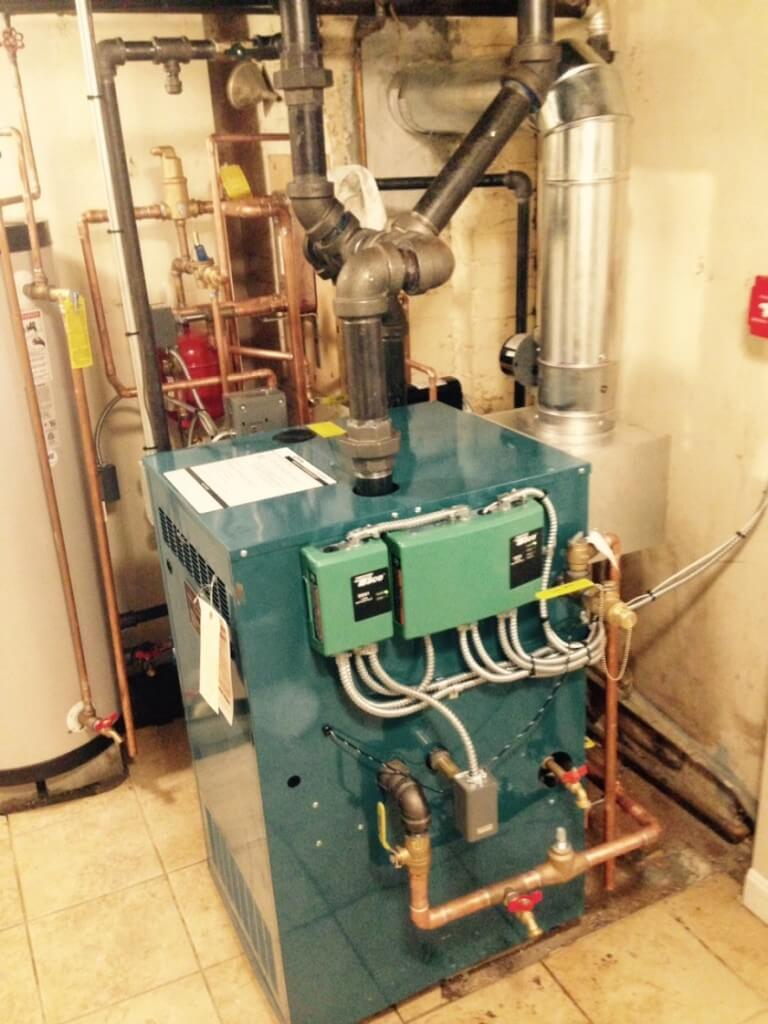 Steam Boiler installed by Winters Home Services on Cabot St, Waltham
